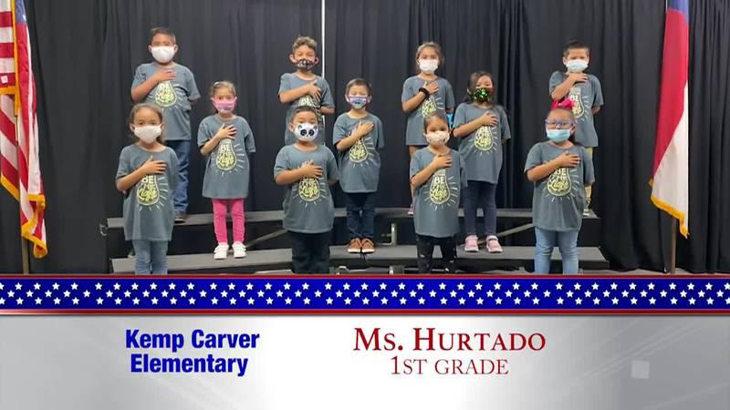 Daily Pledge - Kemp Carver Elementary – Ms. Hurtado's class