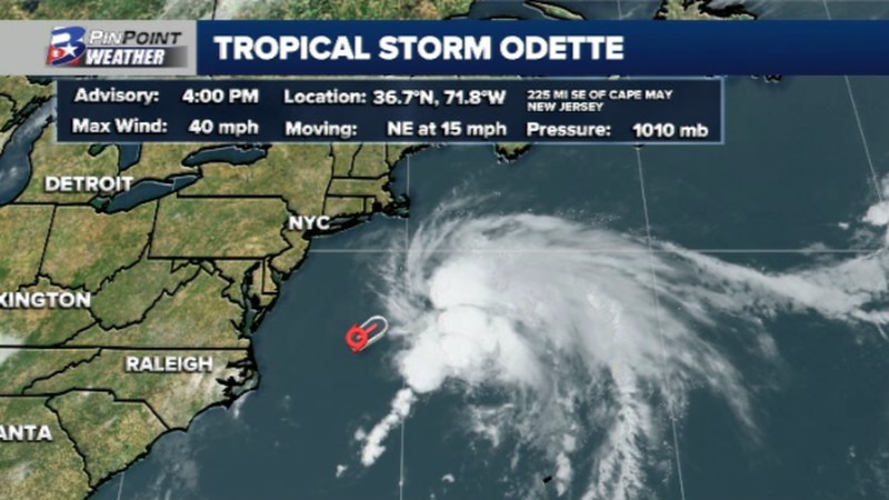 Tropical Storm Odette forms Friday afternoon