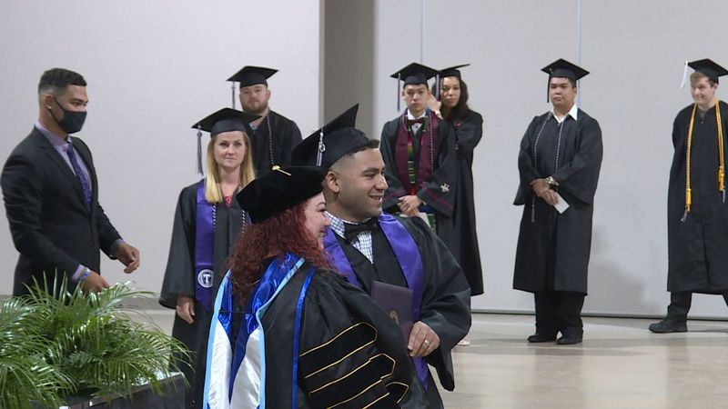 A total of 47 students received degrees Friday.