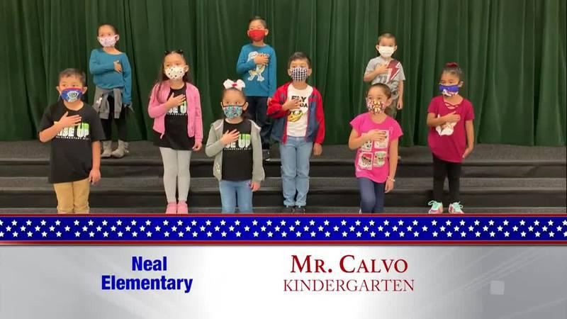 Daily Pledge - Neal Elementary - Mr. Calvo's Class