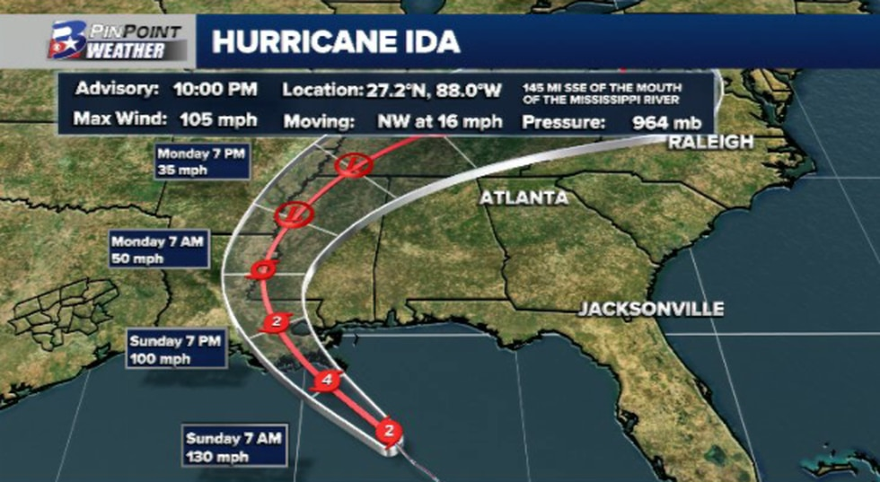 10pm Update from the National Hurricane Center