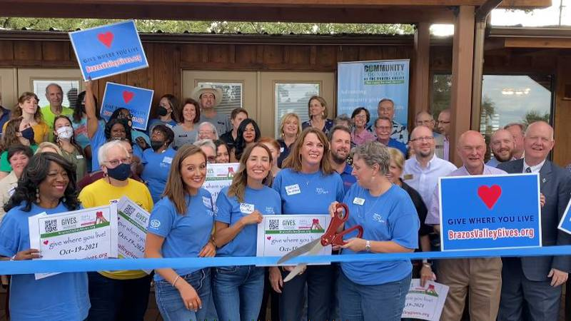Brazos Valley Gives organizers at the 3rd annual ribbon cutting Thursday.