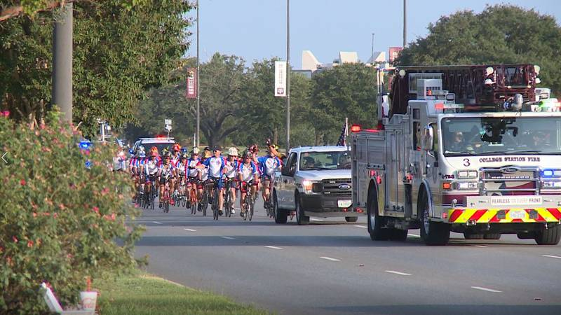 The Texas Brotherhood Ride arrived in College Station Sunday evening and will stay the night in...