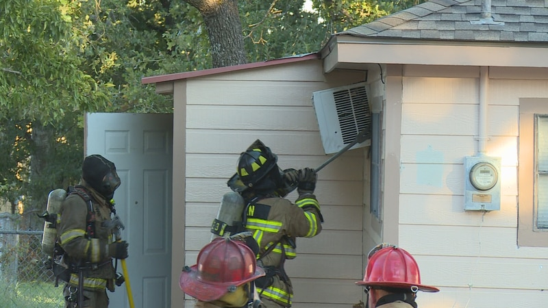 Bryan and College Station firefighters responded to a building fire Monday evening at Goessler...