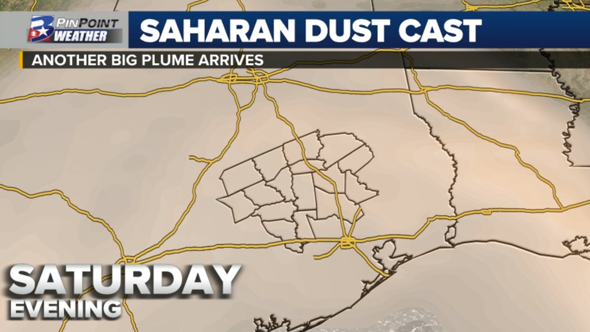 Hazy skies are over the Brazos Valley this weekend as the latest cloud of Saharan dust arrives