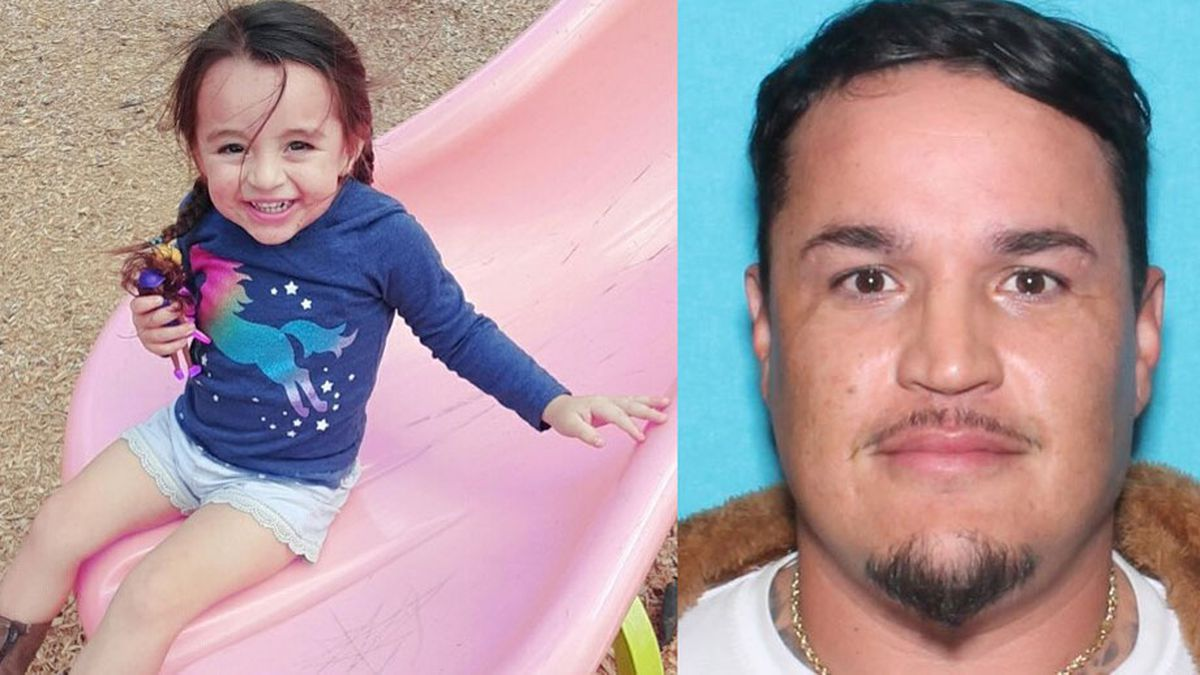 Jaya Trevino, 2, is believed to be with Juan Trevino, 33, who authorities think is driving a black 2014 Nissan Sentra with Texas license MKS1273. (DPS photos)