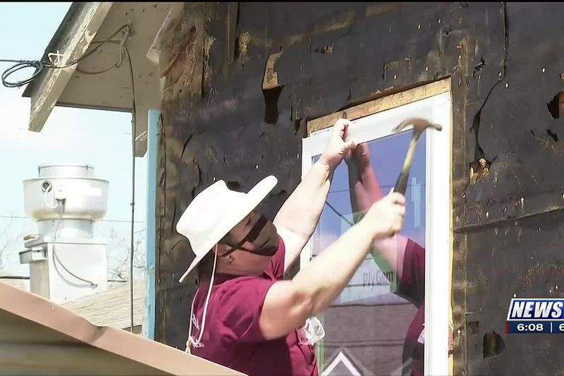 Volunteers help renovate the Bryan-College Station Salvation Army social services building