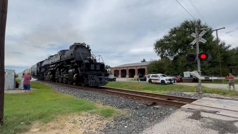 Big Boy No. 4014 rolls through Calvert Sunday afternoon before reaching its destination in...