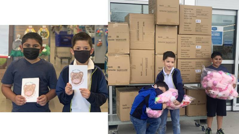 """Some local second graders have created a group called """"Brazos Buddies."""" They've collected..."""