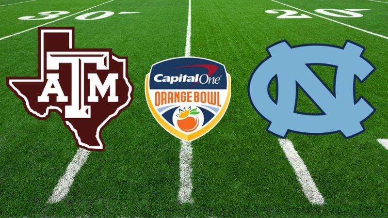 Texas A&M vs UNC Orange Bowl