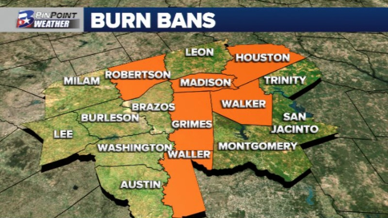 Ongoing burn bans across the Brazos Valley