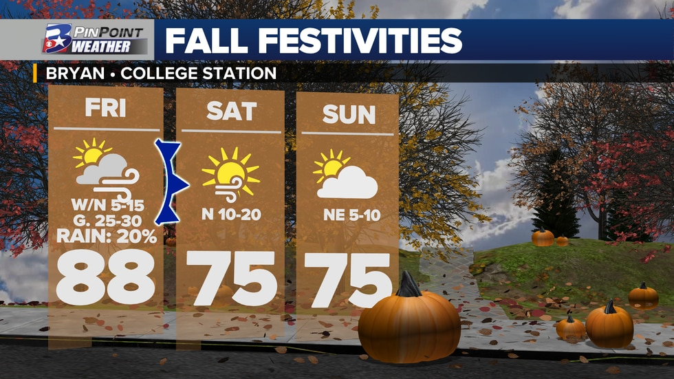 A fall-tastic weekend is ahead for the Brazos Valley