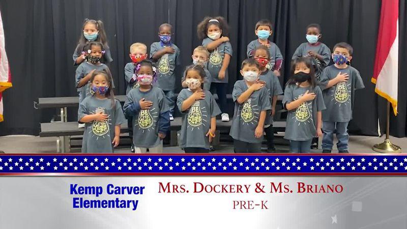 Daily Pledge - Kemp Carver Elementary – Mrs. Dockery & Ms. Briano's Class
