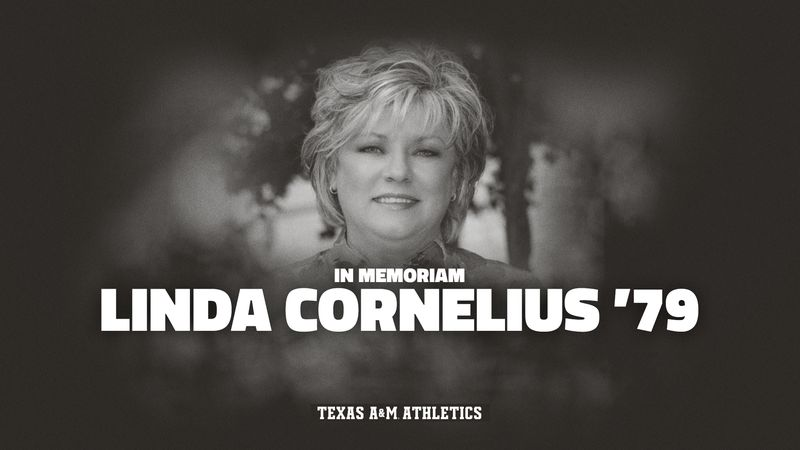 Linda Cornelius, the first Texas A&M female student-athlete inducted into the school's...