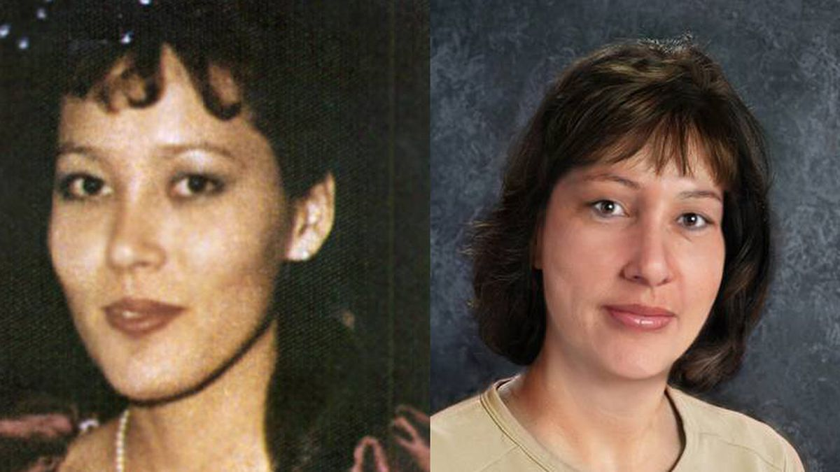 Elizabeth Campbell as she looked in 1988 and as she may appear today. (National Center for...