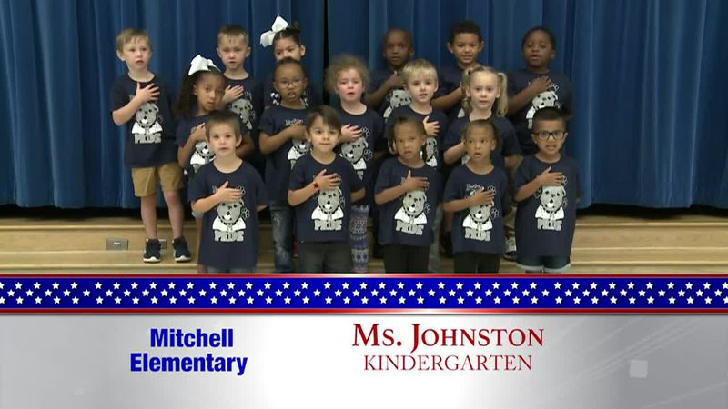 Daily Pledge - Mitchell Elementary - Ms. Johnston's Class