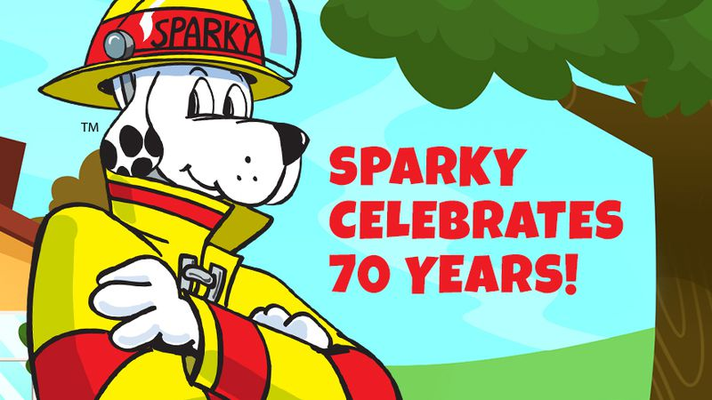 The National Fire Protection Association celebrates Sparky the Fire Dog's 70th birthday.