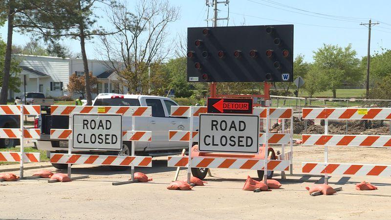 Detours remain on Barron Road near Highway 6.