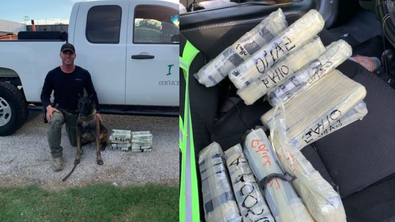 Driver from South Texas arrested after $1.1M worth of cocaine found in truck