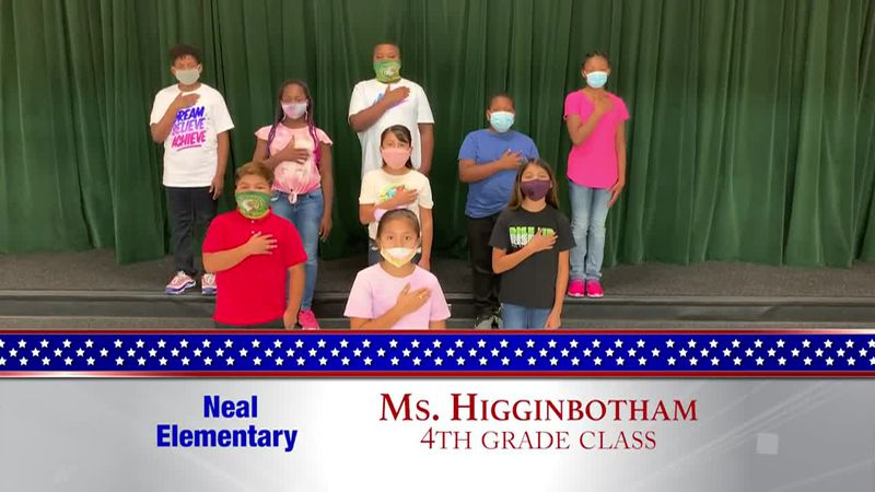 Daily Pledge - Neal Elementary - Ms. Higginbotham's Class