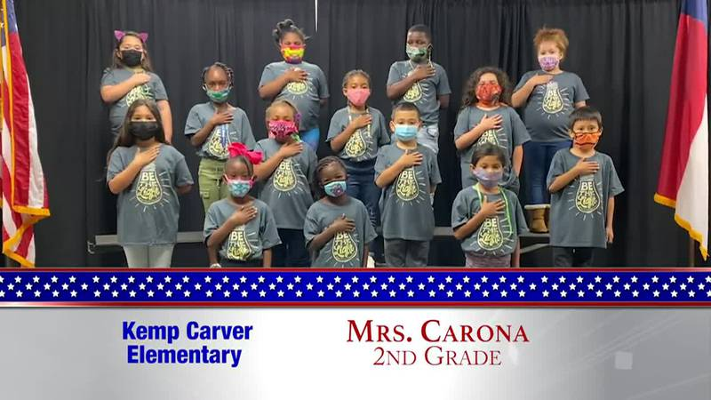 Daily Pledge - Kemp Carver Elementary - Mrs. Carona's Class