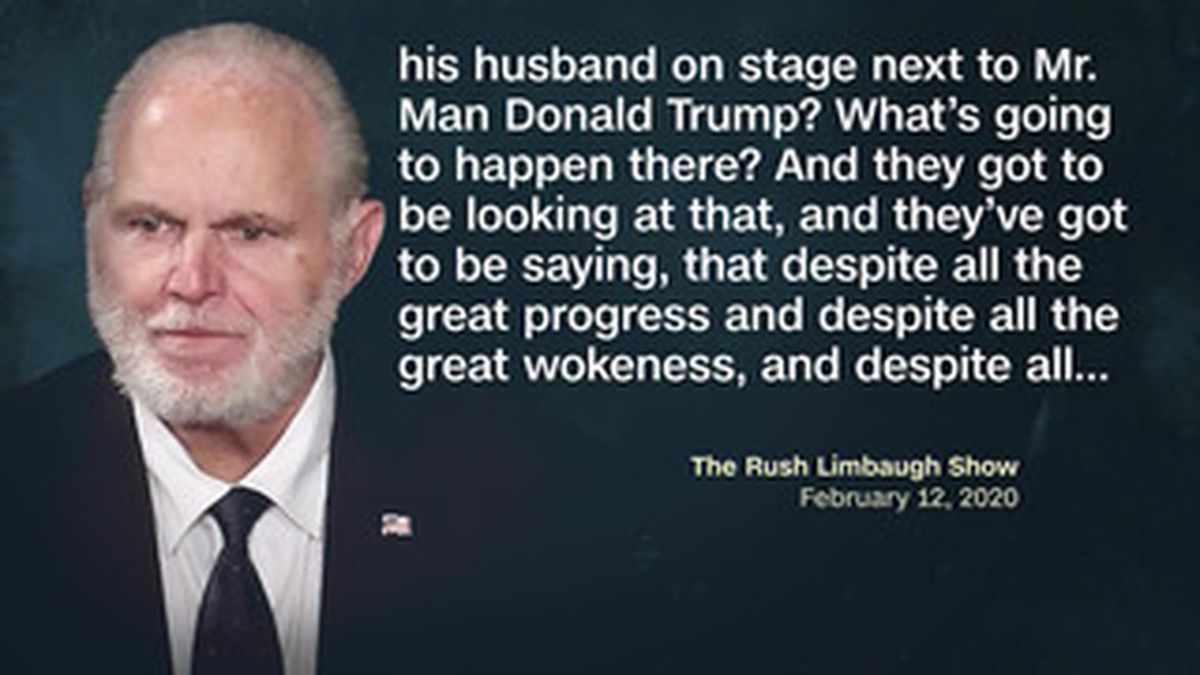 Rush Limbaugh is a Trump ally and made the remarks Wednesday on his nationally syndicated radio...