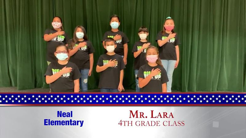 Daily Pledge - Neal Elementary - Mr. Lara's Class