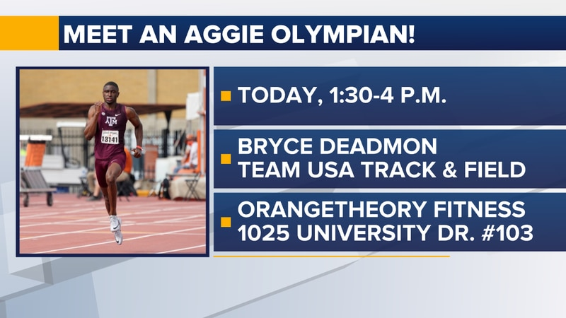 Meet and Olympian Friday, July 9.