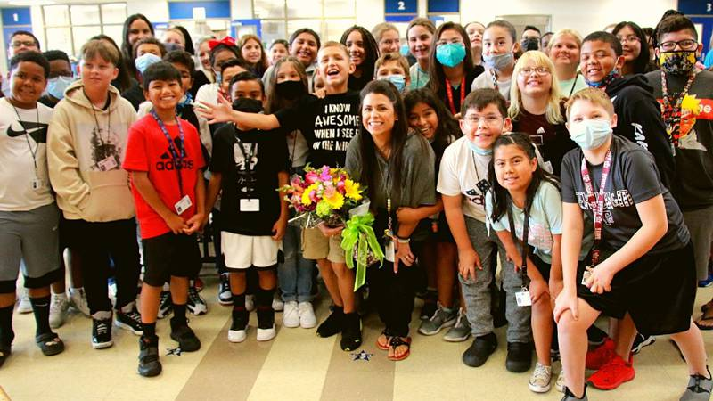 An intermediate teacher has been named as best educator in the Brazos Valley