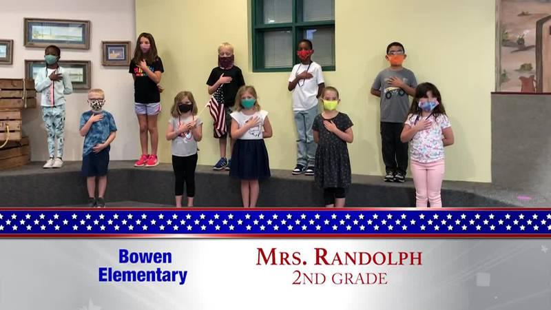Daily Pledge – Bowen Elementary – Mrs. Randolph's Class