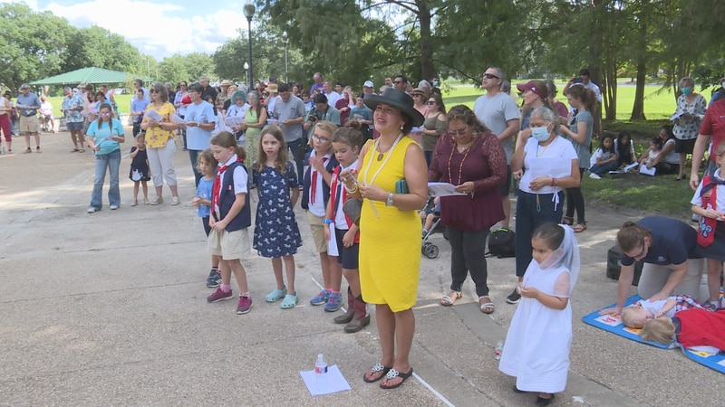 Organizers say they held Sunday's rally to pray for our nation's leaders during a time of...