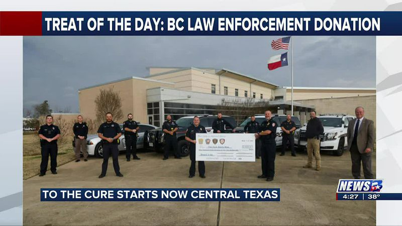 Treat of the Day: Brazos County law enforcement donates to cancer research