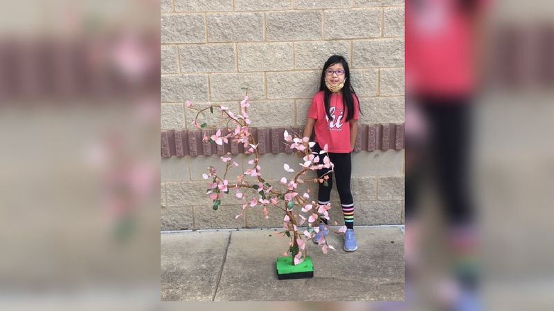 Kaelyn Nguyen takes home first place in Rubberband Contest for Young Inventors