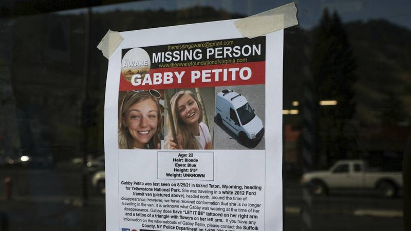 This Thursday, Sept. 16, 2021, photo, shows a Suffolk County Police Department missing person...