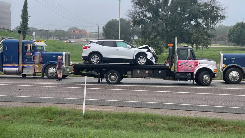 A crash slowed traffic on Highway 6 early Tuesday morning