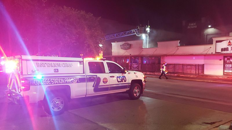 College Station fire responds to Northgate fire