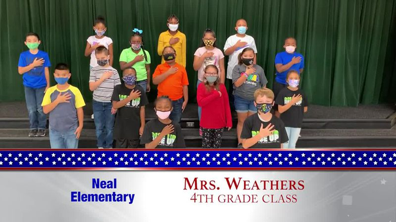 Daily Pledge - Neal Elementary - Mrs. Weathers's Class