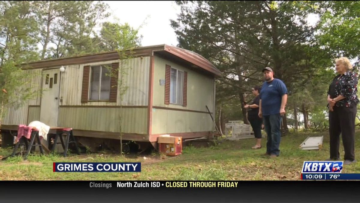 Matthew Oliver and his family showed us bullet holes in a mobile home following a fatal...