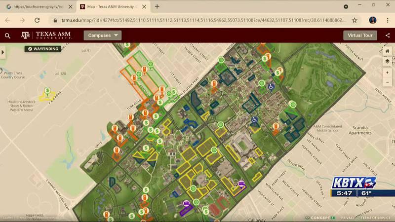 Kyle Field Traffic Map