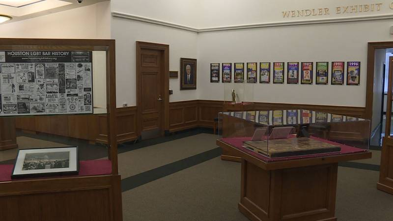 A free exhibit is on display at the Cushing Memorial Library.