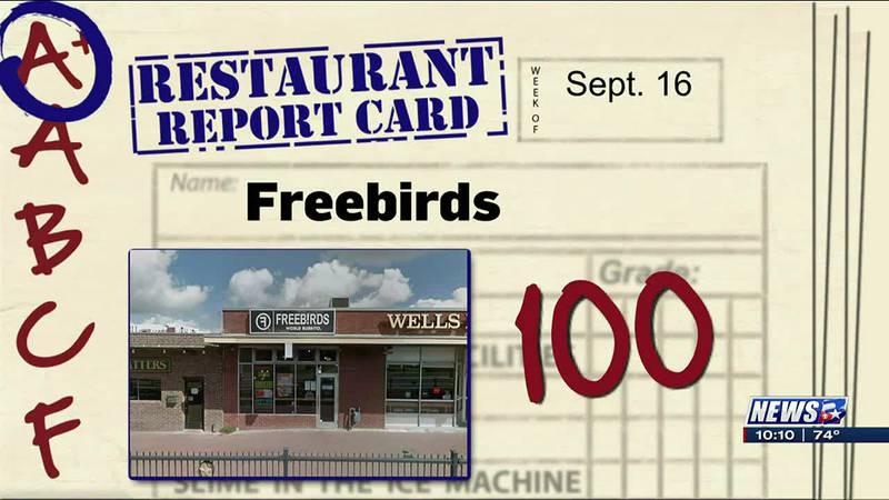 Restaurant Report Card - Sept. 16 2021