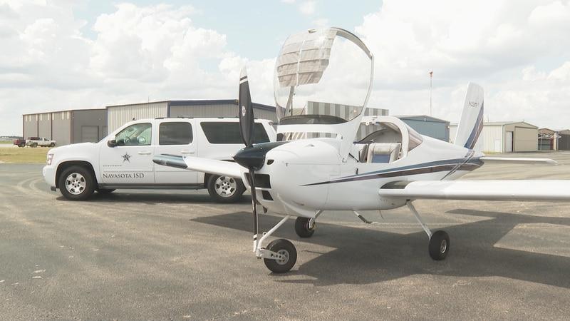 Navasota ISD introduces a new aviation engineering program at a small ceremony at the Navasota...