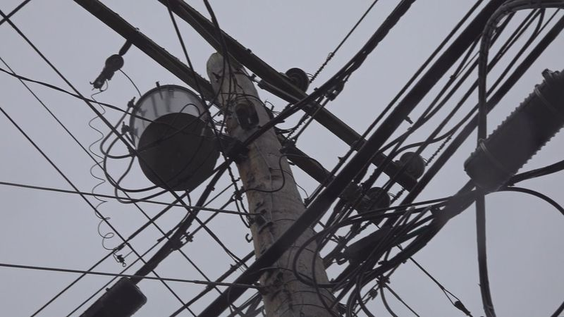 Scattered power outages are being reported Thursday night as ice accumulates on trees and...