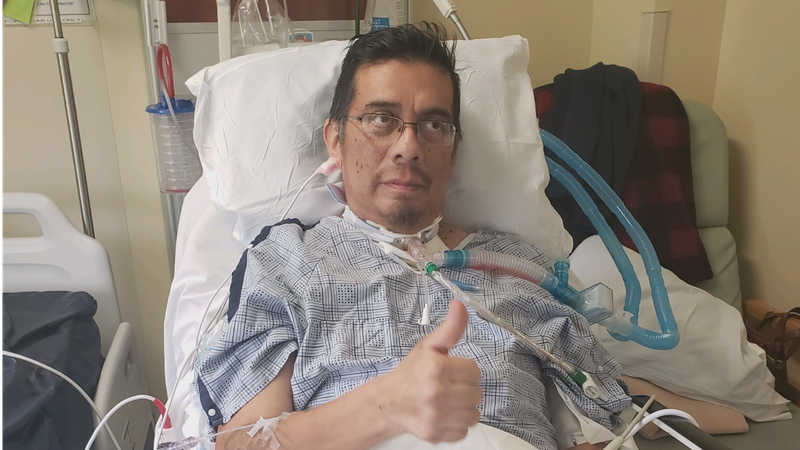 Johnny Ontiveros recovering at Kindred Hospital in Houston.