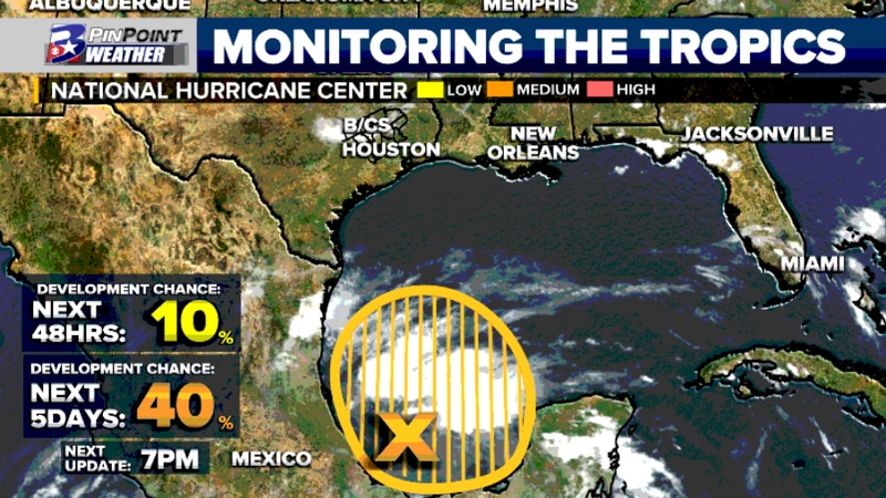 Saturday afternoon update from the National Hurricane Center