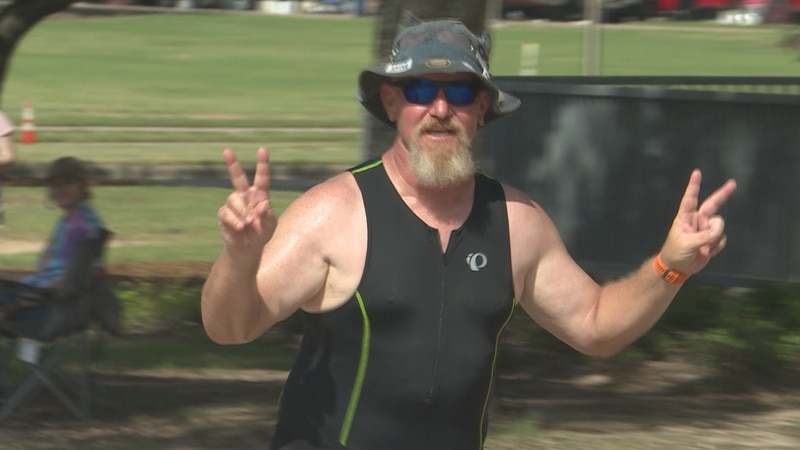 The Tri Aggieland Triathlon was held for the first time since 2017 on Sunday.