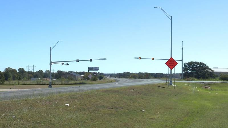Flashing caution lights were recently installed on Bird Pond Road along Highway 30.