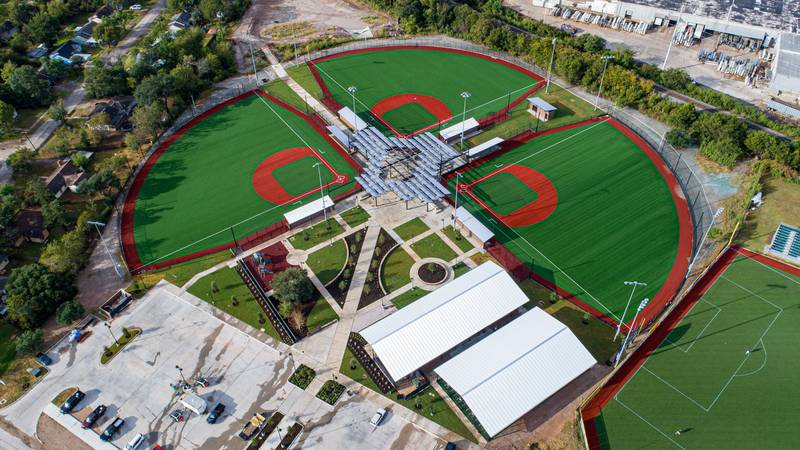 Three new turf fields have been added.