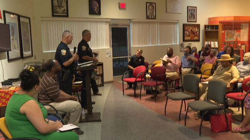 Residents and Bryan police gathered at the Brazos Valley African American Museum Thursday to...