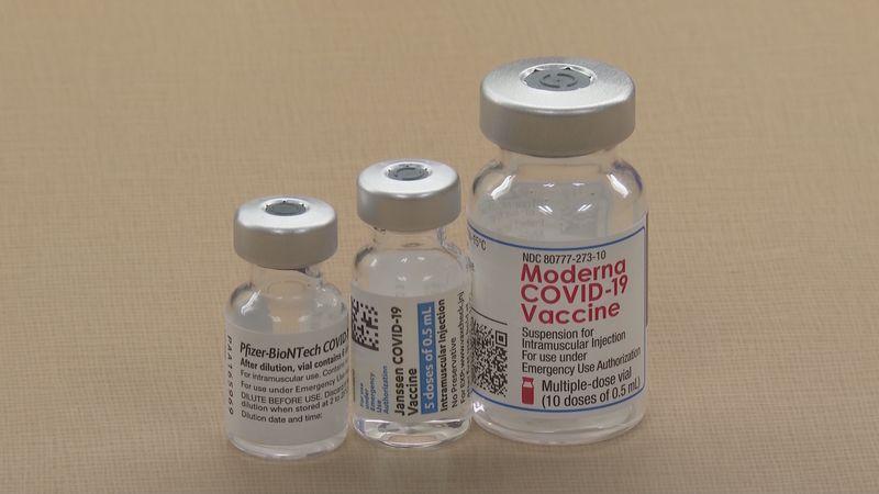 Modern, Johnson & Johnson and Pfizer vaccines
